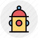 city fire hydrant, construction, emergency, emergency equipment, fire hydrant, water supply icon