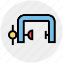 .svg, c-clamp, construction, g-clamp, gimlet machine, pot metal, steel icon