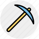 .svg, construction, digging tool, hand tool, pick hammer, pick tool, work tool icon