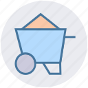 barrow, cart, garden trolley, hand cart, hand truck, trolley icon