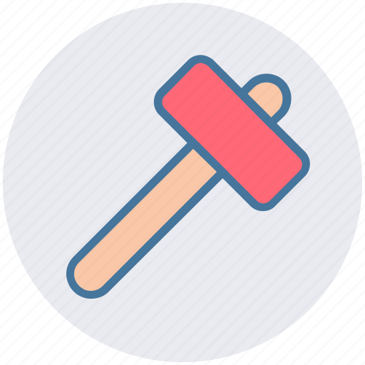 Construction, hammer, hand tool, nail fixer, nail hammer, work tool icon - Download on Iconfinder