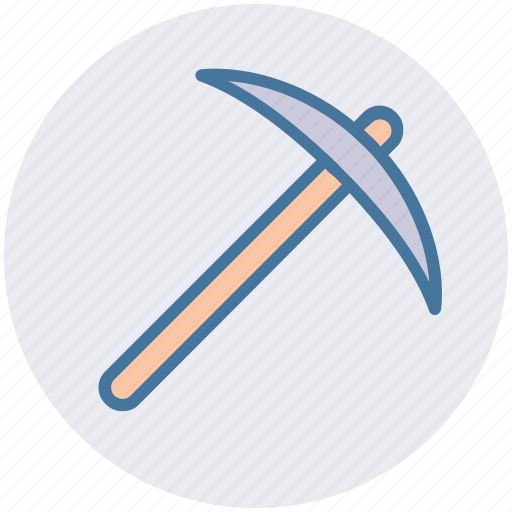 construction, digging tool, hand tool, pick hammer, pick tool, work tool icon