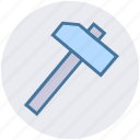 construction, hammer, hand tool, nail fixer, nail hammer, work tool icon