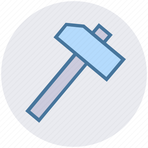 construction, hammer, hand tool, nail fixer, nail hammer, work tool icon