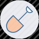 construction, construction tool, gardening tool, hand tool, shovel, spade icon