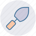 construction, digging trowel, gardening tools, hand tool, planting trowel, trowel icon