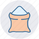 cement sack, construction material, sack, sand bag, sand sack icon