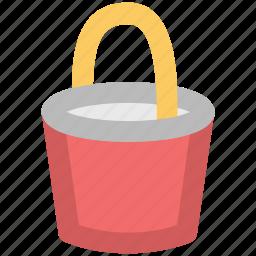 bucket, pail, pot, water, water bucket icon
