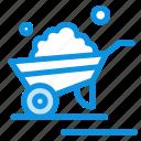 trolley, barrow, wheelbarrow, garden, truck icon