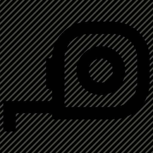 Construction, equipment, maintenance, measure, measurement, measuring, tape icon - Download on Iconfinder
