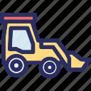 bulldozer, bulldozer vehicle, caterpillar, construction, crawler icon