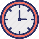 clock, schedule, time, timepiece, timer icon