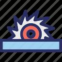 circular blade, circular saw, cutter, saw, wheel disc icon