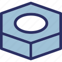 bolt, brick, construction, heavy weight, nut icon