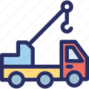 crane, lifter, luggage lifter, luggage lifting crane icon