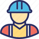 architect, avatar, construction, construction worker, engineer icon