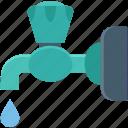 tap, faucet, plumbing, water tap, spigot valve icon