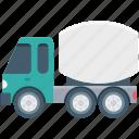 concrete mixer, concrete buggy, construction vehicle, transport, concrete vehicle icon