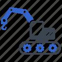 construction, crane, excavator, forklift, lifting, port icon
