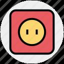 .svg, electronic, plug in, power socket, power supply, socket, wall socket icon