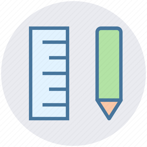 construction, design, pencil, pencil and ruler, ruler, stationary icon