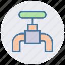 faucet, tap, spigot valve, construction, water tap, plumbing icon