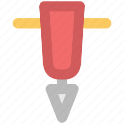 auger, construction equipment, drain, drilling, gimlet machine, hand tool icon