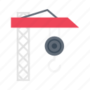 crane, tools, construction, building, hook