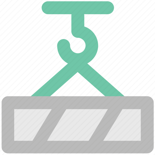 construction, container lifter, industrial, lifter, weight holder, weight lifter icon