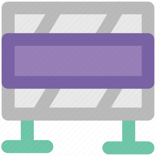 Barrier, construction banner, construction barrier, guard barrier, road barrier, street barrier, traffic barrier icon - Download on Iconfinder