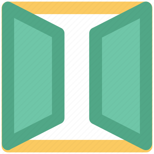 Door, enter sign, entrance, exit, open door, out icon - Download on Iconfinder