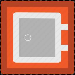 bank locker, cash safe, locker, money box, safe box icon