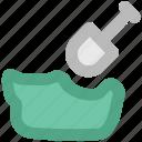 construction tool, diy, gardening tool, shovel, spade, spade tool icon