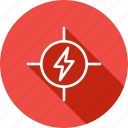 construction, danger, electricity, high, risk, voltage icon
