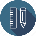 design, drawing, equipment, pencil, ruler icon