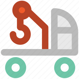 crane, excavator, heavy machinery, lifter, lifting vehicle, luggage lifter icon