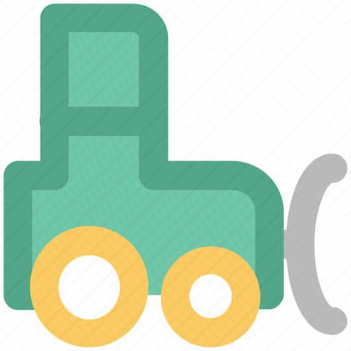 automobile, farm vehicle, lawn tractor, tractor, vehicle icon