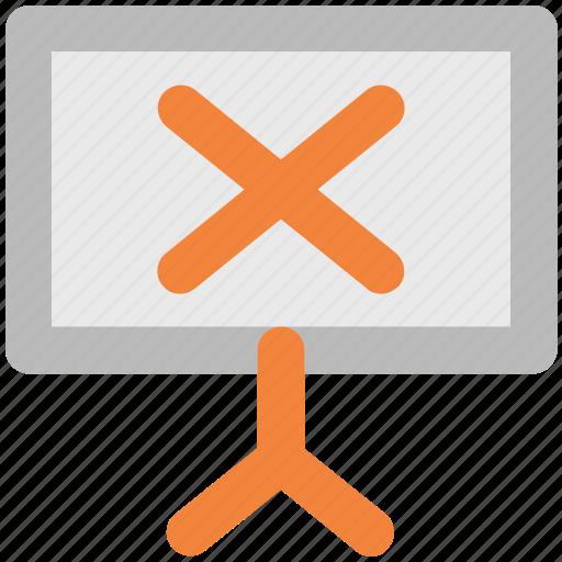 chalkboard, cross, cross on whiteboard, cross sign, notice board icon
