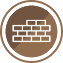 bricks, building, construction, wall icon
