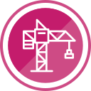 construction, crane, lifting, operation, tool icon