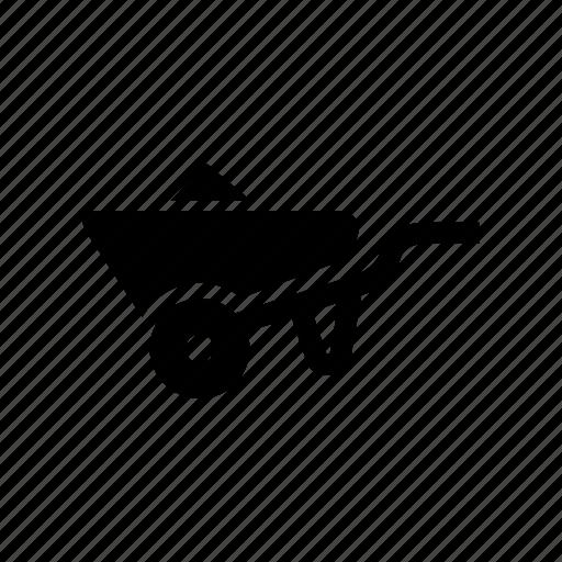 construction, wheelbarrow icon icon