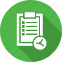 construction, file, plan, time icon