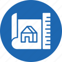 contract, deal, home, paper, plan, property icon