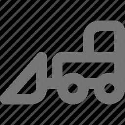 bulldozer, construction icon
