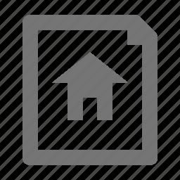 blueprint, construction, home, house icon
