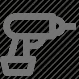 drill, handdrill, tool icon