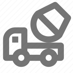 architecture, build, cement, equipment, home, mixer, truck, vehicle icon