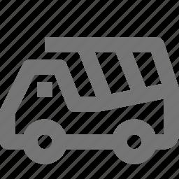 dump, transportation, truck icon