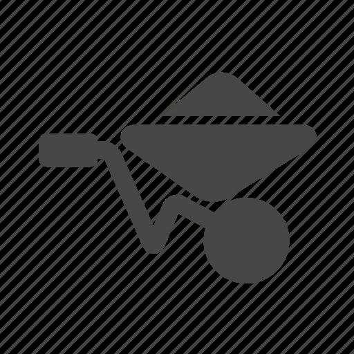 barrow, construction, wheel icon