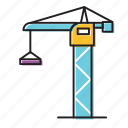 big crane, building crane, crane icon